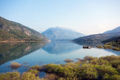 Mountains Reflected in Lake, Greece Stock Images