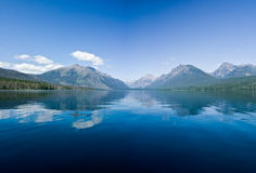 Mountains Reflected In The Lake Stock Photos