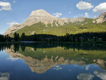 Mountains reflected in the lake Stock Images