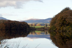 Mountains Reflected On The River Blackwater Stock Photos