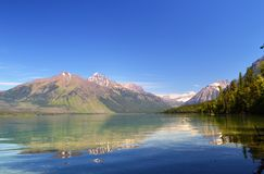 Mountains reflecting off a lake