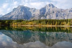 Mountains reflection Royalty Free Stock Images