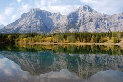 Mountains reflection Royalty Free Stock Photo