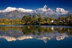 Mountains reflection Stock Image