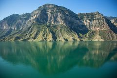 Lake with mountains royalty free stock images