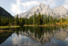 Mountains and reflection pond Stock Photography