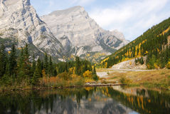 Mountains and reflection pond Royalty Free Stock Photos