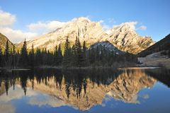 Mountains and reflection pond Stock Image