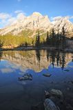 Mountains and reflection pond Royalty Free Stock Image