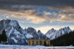 Mountains reflections Stock Image