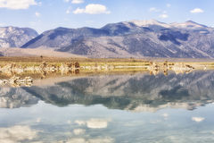 Mountains reflections at Mono Lake, California, USA Stock Photo