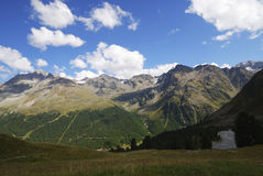 Alps in the Vinschgau. Mountains in the region of mount Ortler in Sulden (South Tyrol, Italy Stock Image