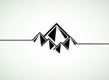 Mountains retro background Royalty Free Stock Photography