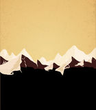 Mountains retro background Royalty Free Stock Image