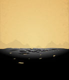 Mountains retro background Royalty Free Stock Photo