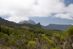 Mountains in Reunion Island National Park Royalty Free Stock Photo