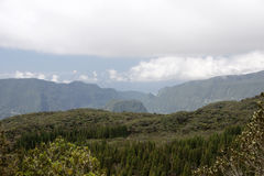 Mountains in Reunion Island National Park Stock Photo