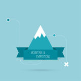 Mountains with ribbon Royalty Free Stock Images
