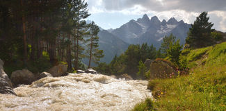 Mountains river Stock Image