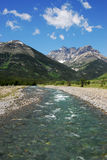 Mountains and river Stock Photography