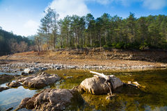 Mountains river   in  Catalan Pyrenees Royalty Free Stock Image