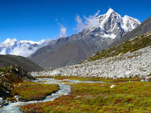 Mountains and river, Himalayas Nepal Royalty Free Stock Photography