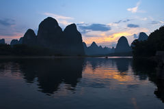 Mountains in river Li Royalty Free Stock Photos