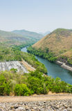 Mountains and river in Thailand Stock Photos