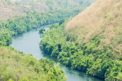Mountains and river in Thailand Stock Image
