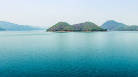 Mountains and river in Thailand Royalty Free Stock Photo