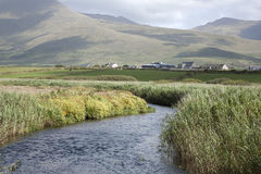 Mountains, Rivers and Cloudscape in Dingle Peninsula Stock Photography