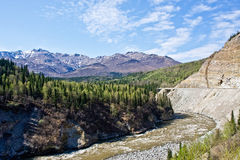Mountains and Rivers of Interior Alaska Royalty Free Stock Images