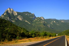 Mountains and road Royalty Free Stock Images