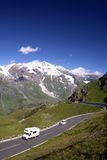 Mountains Road in the Alps, Austria. Mountains Road in the Austrian Alps Mountains Stock Image