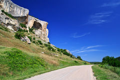 Mountains and the road. In the Crimea Royalty Free Stock Photography