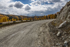 Mountains road forest autumn Royalty Free Stock Image