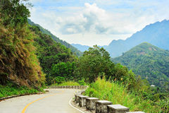 Mountains road, Philippines Stock Photography