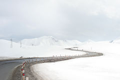 Mountains road in the winter Stock Photography
