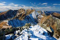 Mountains. Rock mountains panorama in Slovakia Royalty Free Stock Image