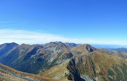 Mountains. Rock mountains and tarn in Slovakia Stock Image