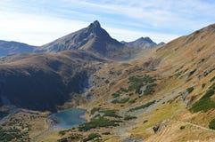 Mountains. Rock mountains and tarn in Slovakia Royalty Free Stock Photos
