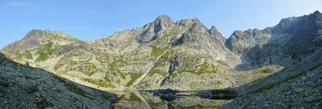 Mountains. Rock mountains and tarn in Slovakia Royalty Free Stock Images