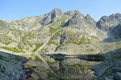 Mountains. Rock mountains and tarn in Slovakia Royalty Free Stock Photo