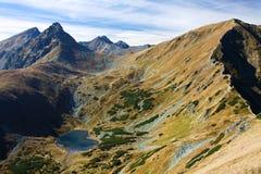 Mountains. Rock mountains and tarn in Slovakia Stock Photos