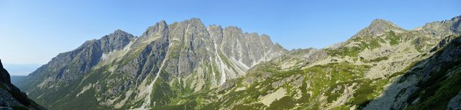 Mountains. Rock mountains and trees in Slovakia Royalty Free Stock Photo