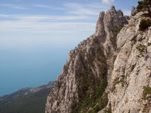 Mountains, rocks, Black sea, Ai-Petri. Rocks, Black sea. Ai-Petri  is a peak in the Crimean Mountains Stock Photo