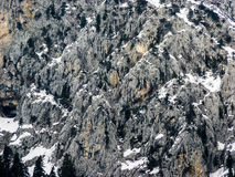 Mountains Rocks covered from Snow Royalty Free Stock Photo