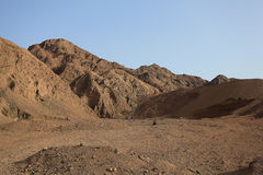 Mountains and rocks in  Egypt Royalty Free Stock Photo