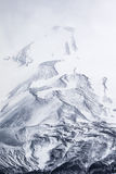 Mountains, rocks, ice, snow and mist Royalty Free Stock Photography