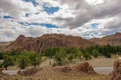 Mountains rocks red stones landscape Stock Image
